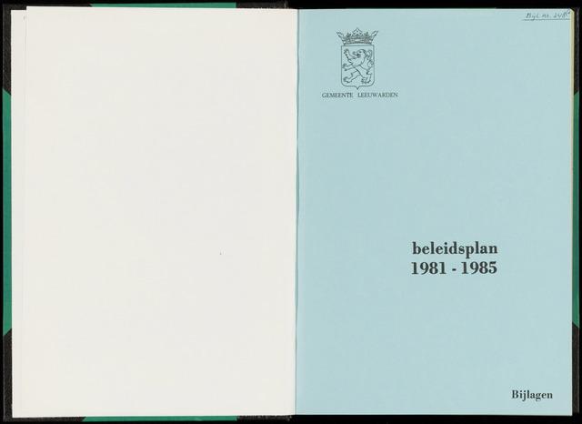 Raadsverslagen van de gemeente Leeuwarden, 1865-2007 (Bijlagen) 1980-01-01