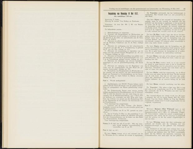 Raadsverslagen van de gemeente Leeuwarden, 1865-2007 (Notulen) 1937-05-19