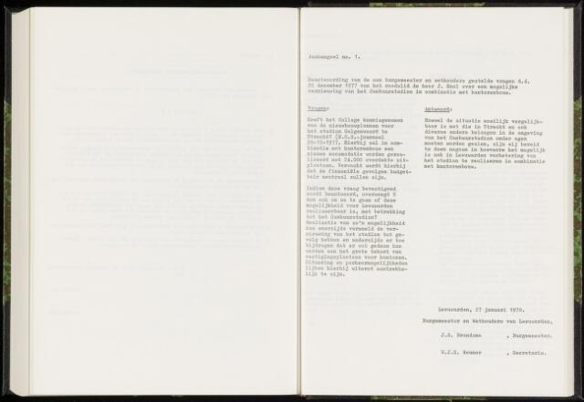 Raadsverslagen van de gemeente Leeuwarden, 1865-2007 (Schriftelijke vragen) 1978