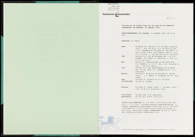 Raadsverslagen van de gemeente Leeuwarden, 1865-2007 (Notulen) 1998