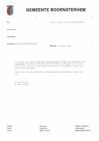 Boarnsterhim vergaderstukken gemeenteraad  1984-04-25