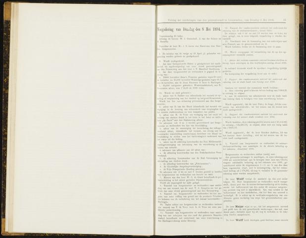 Raadsverslagen van de gemeente Leeuwarden, 1865-2007 (Notulen) 1894-05-08
