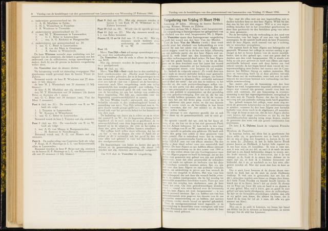 Raadsverslagen van de gemeente Leeuwarden, 1865-2007 (Notulen) 1946-03-15