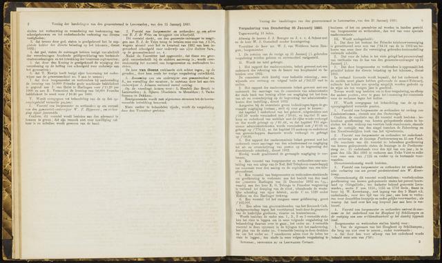 Raadsverslagen van de gemeente Leeuwarden, 1865-2007 (Notulen) 1883-01-25