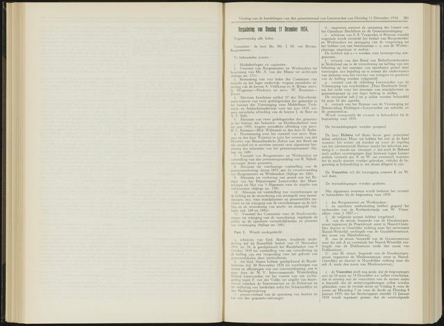Raadsverslagen van de gemeente Leeuwarden, 1865-2007 (Notulen) 1934-12-11