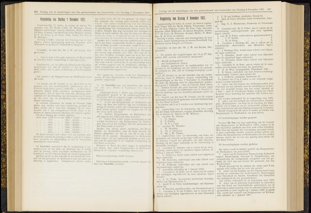 Raadsverslagen van de gemeente Leeuwarden, 1865-2007 (Notulen) 1921-11-08