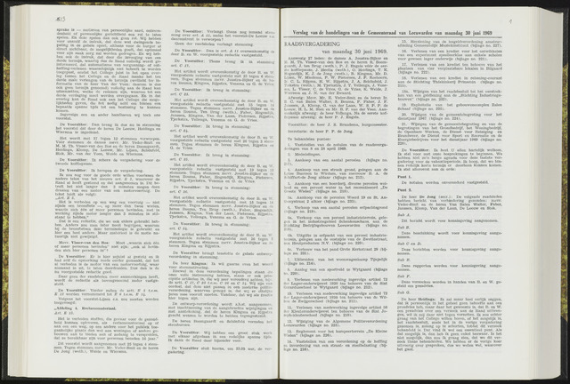Raadsverslagen van de gemeente Leeuwarden, 1865-2007 (Notulen) 1969-06-30