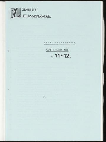 Notulen van de gemeenteraad van Leeuwarderadeel 1988-12-13
