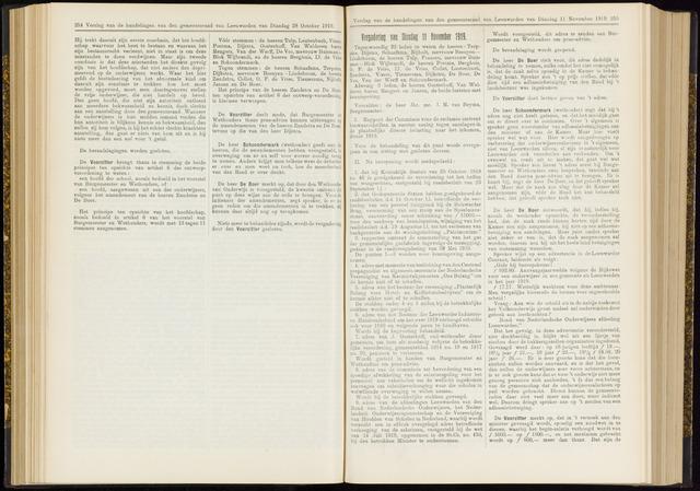 Raadsverslagen van de gemeente Leeuwarden, 1865-2007 (Notulen) 1919-11-11