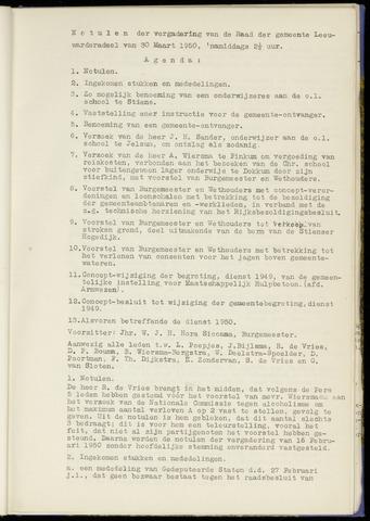 Notulen van de gemeenteraad van Leeuwarderadeel 1950-03-30
