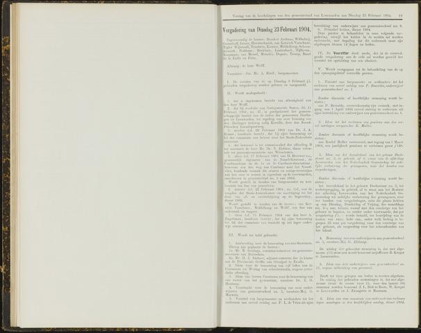 Raadsverslagen van de gemeente Leeuwarden, 1865-2007 (Notulen) 1904-02-23