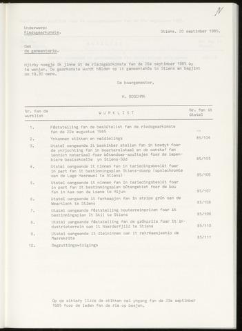 Notulen van de gemeenteraad van Leeuwarderadeel 1985-09-26