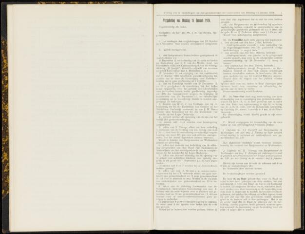 Raadsverslagen van de gemeente Leeuwarden, 1865-2007 (Notulen) 1924
