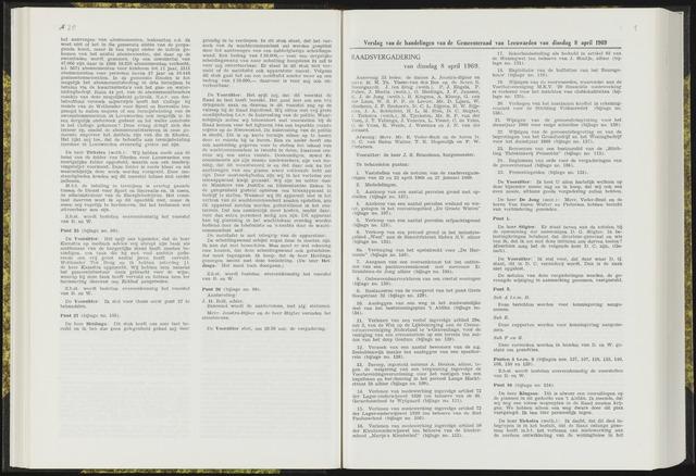 Raadsverslagen van de gemeente Leeuwarden, 1865-2007 (Notulen) 1969-03-08