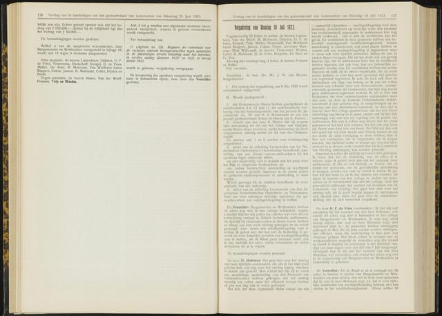 Raadsverslagen van de gemeente Leeuwarden, 1865-2007 (Notulen) 1923-07-10