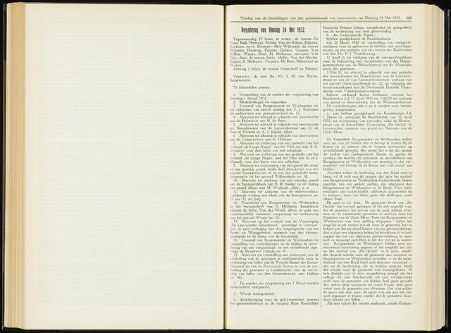 Raadsverslagen van de gemeente Leeuwarden, 1865-2007 (Notulen) 1932-05-24