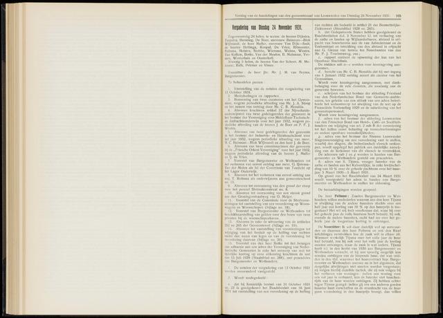 Raadsverslagen van de gemeente Leeuwarden, 1865-2007 (Notulen) 1931-11-24