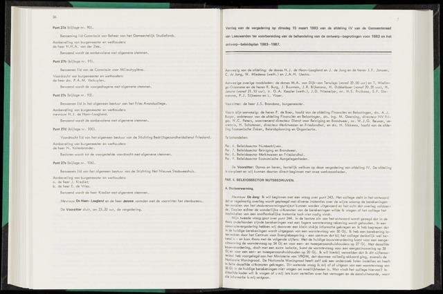Raadsverslagen van de gemeente Leeuwarden, 1865-2007 (Notulen) 1983-03-15