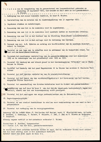 Notulen van de gemeenteraad van Leeuwarderadeel 1972-09-28