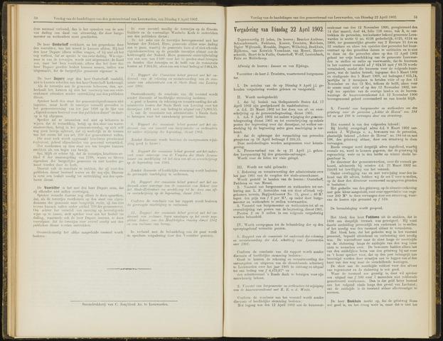 Raadsverslagen van de gemeente Leeuwarden, 1865-2007 (Notulen) 1902-04-22