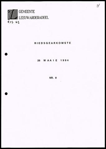Notulen van de gemeenteraad van Leeuwarderadeel 1994-05-26