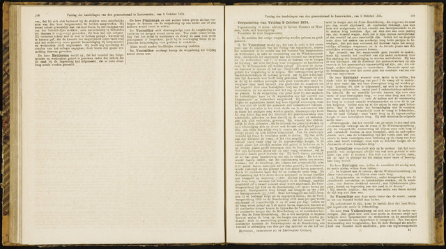 Raadsverslagen van de gemeente Leeuwarden, 1865-2007 (Notulen) 1874-10-09