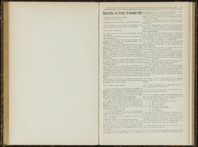 Raadsverslagen van de gemeente Leeuwarden, 1865-2007 (Notulen) 1900-11-13