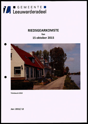 Notulen van de gemeenteraad van Leeuwarderadeel 2015-10-15