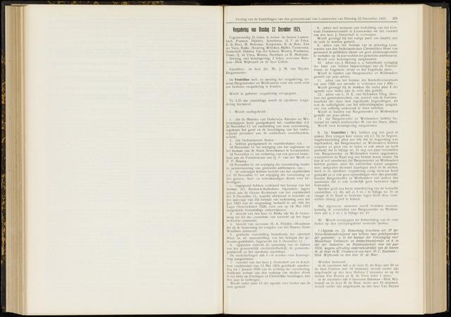 Raadsverslagen van de gemeente Leeuwarden, 1865-2007 (Notulen) 1925-12-22