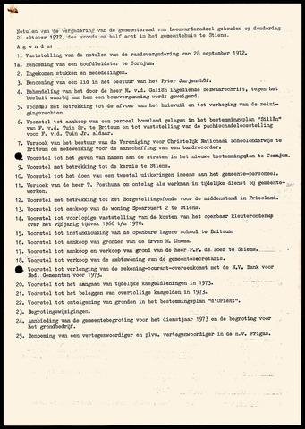 Notulen van de gemeenteraad van Leeuwarderadeel 1972-10-26