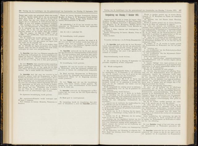 Raadsverslagen van de gemeente Leeuwarden, 1865-2007 (Notulen) 1913-10-07