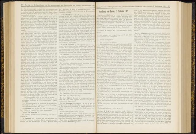 Raadsverslagen van de gemeente Leeuwarden, 1865-2007 (Notulen) 1921-09-27