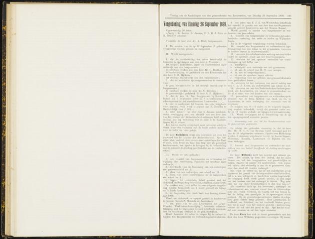 Raadsverslagen van de gemeente Leeuwarden, 1865-2007 (Notulen) 1899-09-26