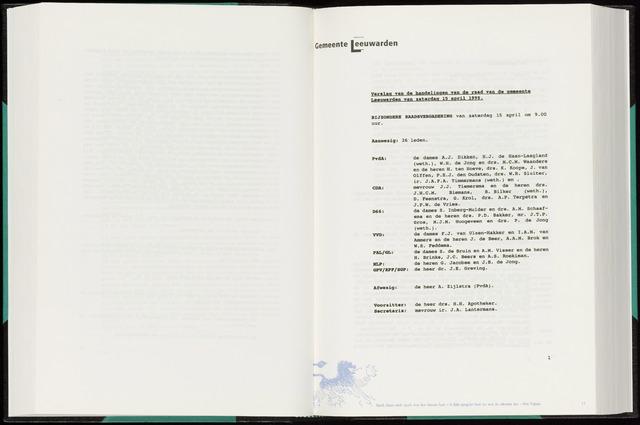 Raadsverslagen van de gemeente Leeuwarden, 1865-2007 (Notulen) 1995-04-15
