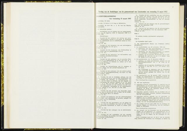 Raadsverslagen van de gemeente Leeuwarden, 1865-2007 (Notulen) 1957-03-13