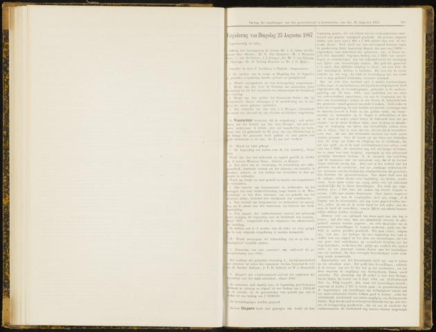 Raadsverslagen van de gemeente Leeuwarden, 1865-2007 (Notulen) 1887-08-23