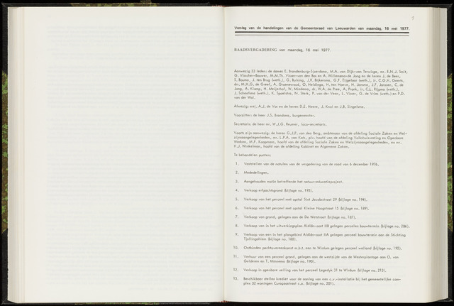 Raadsverslagen van de gemeente Leeuwarden, 1865-2007 (Notulen) 1977-05-16