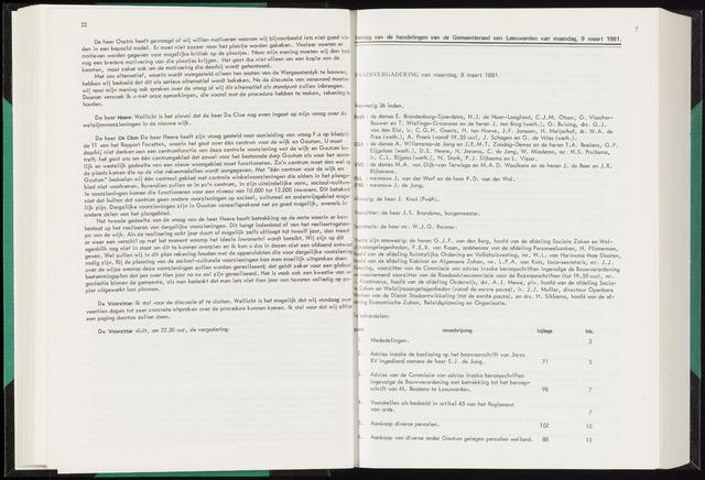 Raadsverslagen van de gemeente Leeuwarden, 1865-2007 (Notulen) 1981-03-09