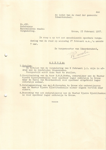 raadsverslagen Idaarderadeel 1935-1983 1957-02-27