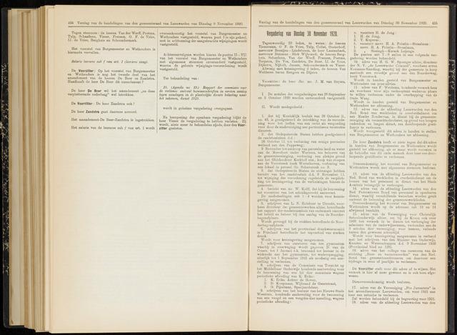 Raadsverslagen van de gemeente Leeuwarden, 1865-2007 (Notulen) 1920-11-30
