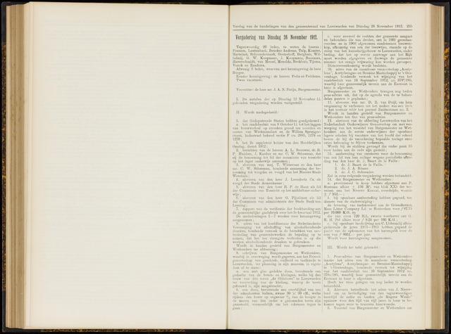 Raadsverslagen van de gemeente Leeuwarden, 1865-2007 (Notulen) 1912-11-26
