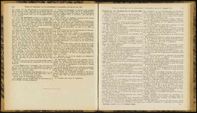 Raadsverslagen van de gemeente Leeuwarden, 1865-2007 (Notulen) 1885-08-11