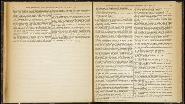 Raadsverslagen van de gemeente Leeuwarden, 1865-2007 (Notulen) 1873-04-10