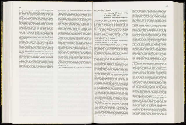 Raadsverslagen van de gemeente Leeuwarden, 1865-2007 (Notulen) 1972-03-27