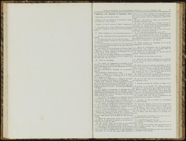 Raadsverslagen van de gemeente Leeuwarden, 1865-2007 (Notulen) 1886-09-14