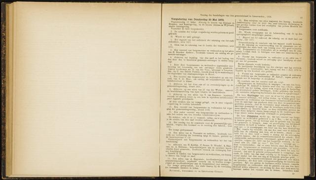 Raadsverslagen van de gemeente Leeuwarden, 1865-2007 (Notulen) 1872-05-23
