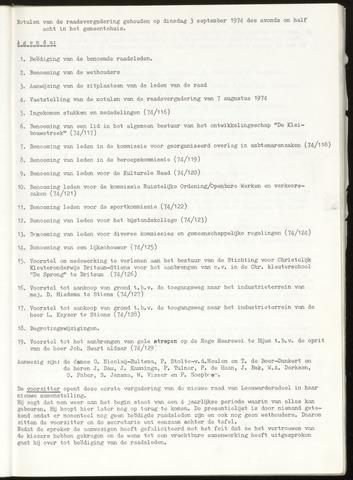 Notulen van de gemeenteraad van Leeuwarderadeel 1974-09-03