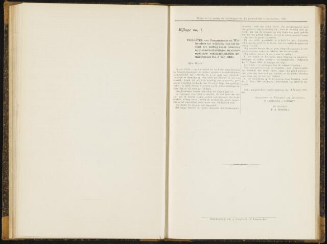Raadsverslagen van de gemeente Leeuwarden, 1865-2007 (Bijlagen) 1890-01-01