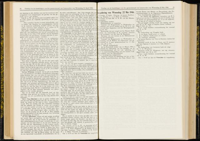 Raadsverslagen van de gemeente Leeuwarden, 1865-2007 (Notulen) 1946-05-22
