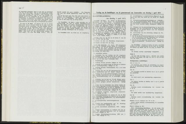 Raadsverslagen van de gemeente Leeuwarden, 1865-2007 (Notulen) 1975-04-01